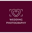 Wedding Photography logo vector image