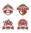 bowling emblem and design element logotype vector image