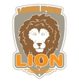 stylish logo with an image of a lion vector image