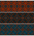 3 seamless patterns vector image vector image