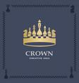 a big golden crown vector image vector image