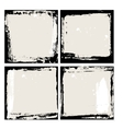 Abstract grunge frame set Black and beige vector image vector image