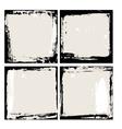 Abstract grunge frame set Black and beige vector image