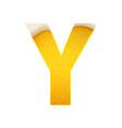 alphabet in form lemonade or beer vector image vector image