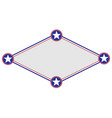 american symbols rhombus frame vector image