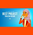 arab woman banner young saudi arabic vector image vector image