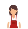 avatar woman wearing red apron vector image