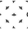 black friday ribbon pattern seamless black vector image vector image