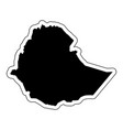 black silhouette of the country ethiopia with the vector image vector image