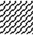 Black zigzag lines in diagonal arrangement vector image vector image