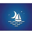 boat night sea vector image
