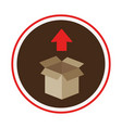 box carton packing icon vector image vector image