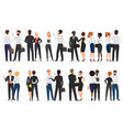 business people conversation man and woman vector image