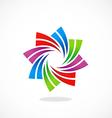circular swirl business logo vector image vector image
