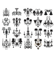 Classic Wall Lamps Set vector image vector image