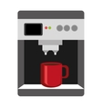 colorful electronic coffee maker graphic vector image