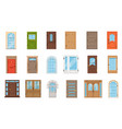 colorful front doors collection vintage and vector image vector image