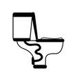 contour toilet plumbing equipment service repair vector image