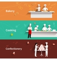 Cooking Horizontal Banners vector image vector image