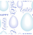 easter seamless pattern with eggs and creative vector image