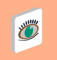 eye with eyelashes computer symbol vector image vector image