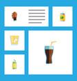 flat icon beverage set of drink lemonade vector image vector image