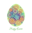Floral mandala pattern in the shape of an egg vector image vector image