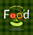 Food for design website infographic poster ad vector image