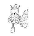 funny squirrel nursery art minimalist vector image