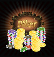 gambling chips and gold coins poker vector image vector image