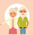 grandparents day card vector image