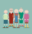 group of elderly women vector image vector image