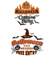 Halloween Party theme graphics vector image vector image