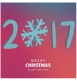 Happy holidays Merry Christmas and Happy new year vector image vector image