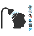 Head Shower Icon With Free Bonus vector image