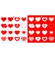 heart icon set happy valentines day sign symbol vector image vector image