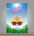 hello summer background season vacation weekend vector image vector image