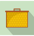 hexagonal honey icon flat style vector image vector image