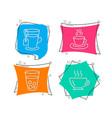ice tea tea cup and coffee icons soda beverage vector image vector image
