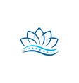 lotus chiropractic logo spine spinal care icon vector image