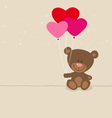 Love bear with balloons vector image vector image