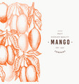 mango design template hand drawn tropic fruit vector image vector image