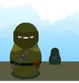 Matryoshka SWAT sniper vector image