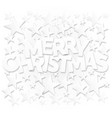 merry christmas lettering with stars background vector image vector image