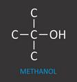 methanol structural formula vector image