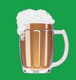 Mug of beer with cap of foam vector image
