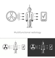 Multifunctional radiology and full-body screening vector image vector image