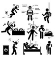 occupational safety and health worker accident vector image