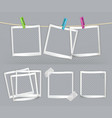 paper frames with transparency 3d realistic set vector image