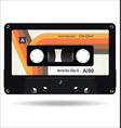 retro vintage cassette tape isolated white vector image vector image